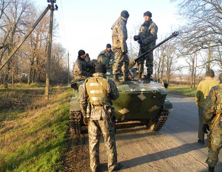 Колонна военных Украины