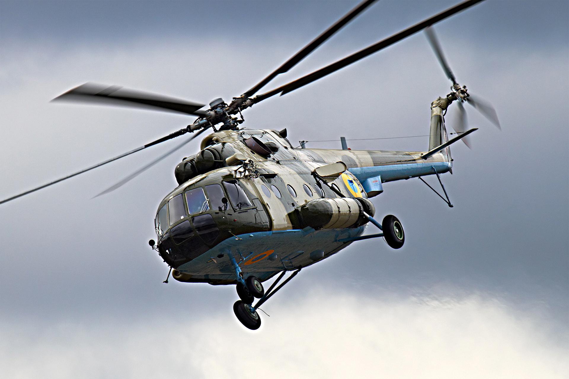 Украинский вертолет Донецк