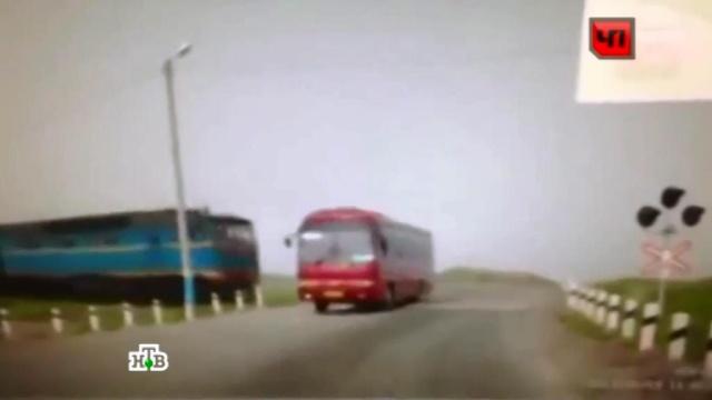 Авария автобуса в Сахалине