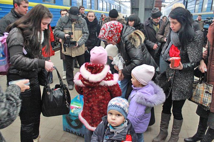 Беженцы на Украине