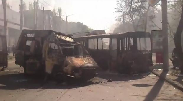 В Краматорске начлаись пожары
