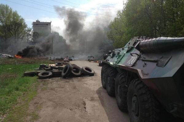 Подбили БТР украины