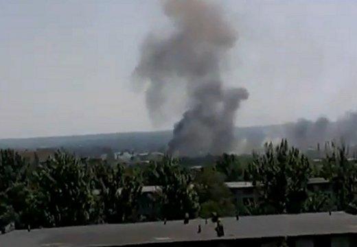 Четыре дома разрушены в Славянске