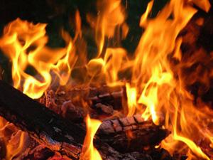 ожоги костер