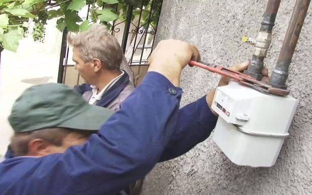 gazovyj schetchik na ulice